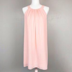 White House Black Market Blush Pink Slit Dress
